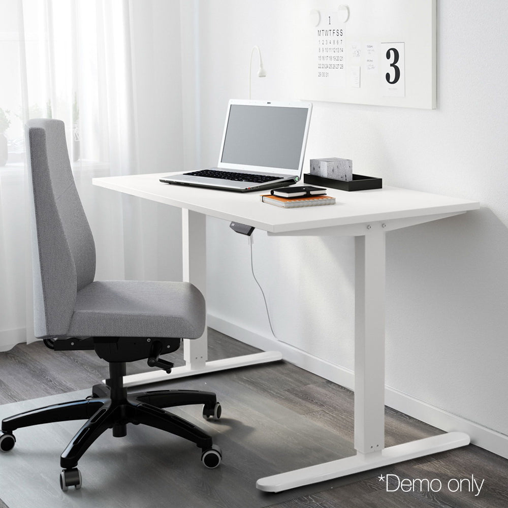 Motorised Height Adjustable Standing Desk - White