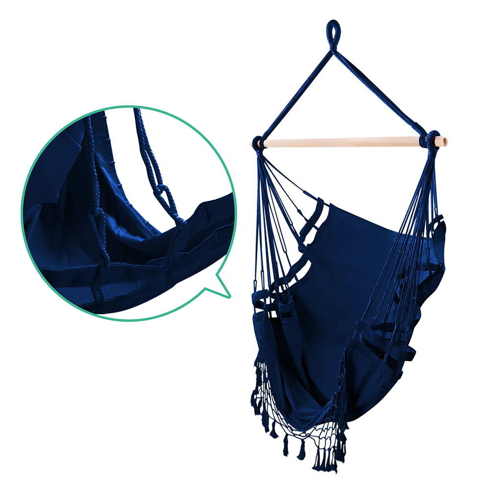 Gardeon Hammock Swing Chair - Navy