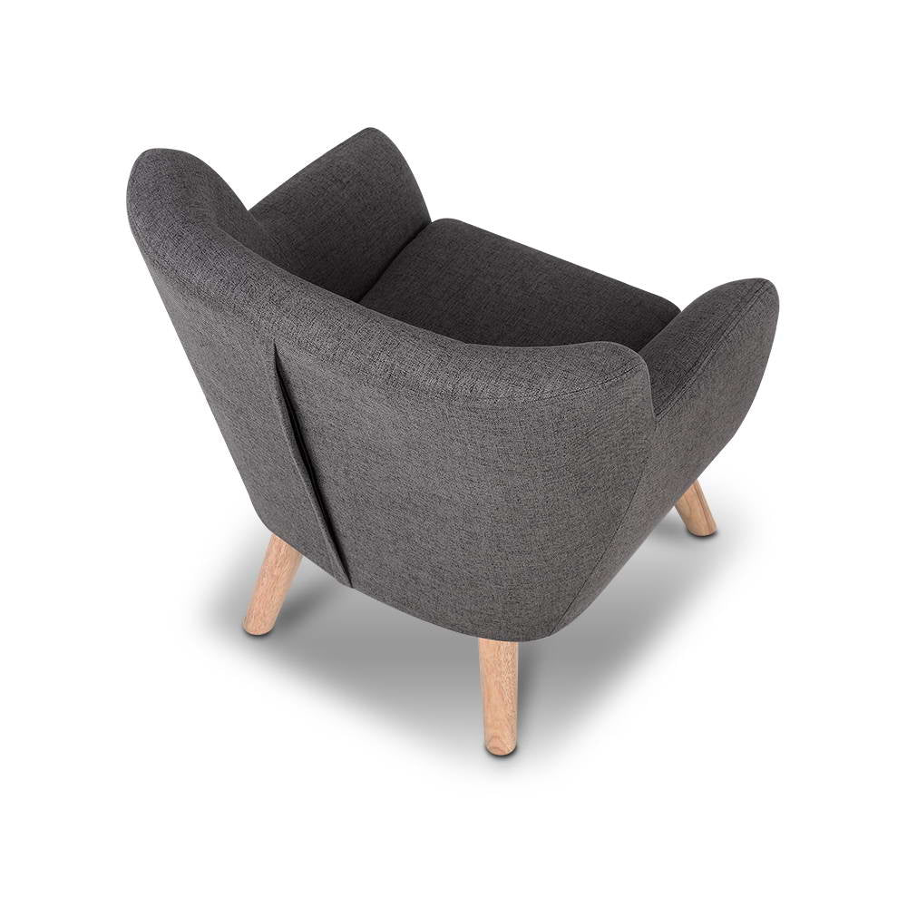Artiss Kids Fabric Accent Armchair - Grey