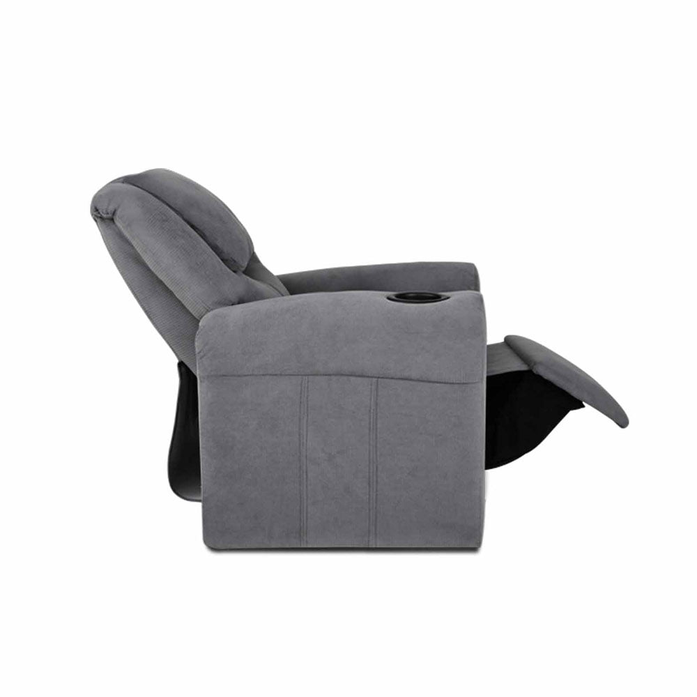 Artiss Kids Fabric Reclining Armchair - Grey