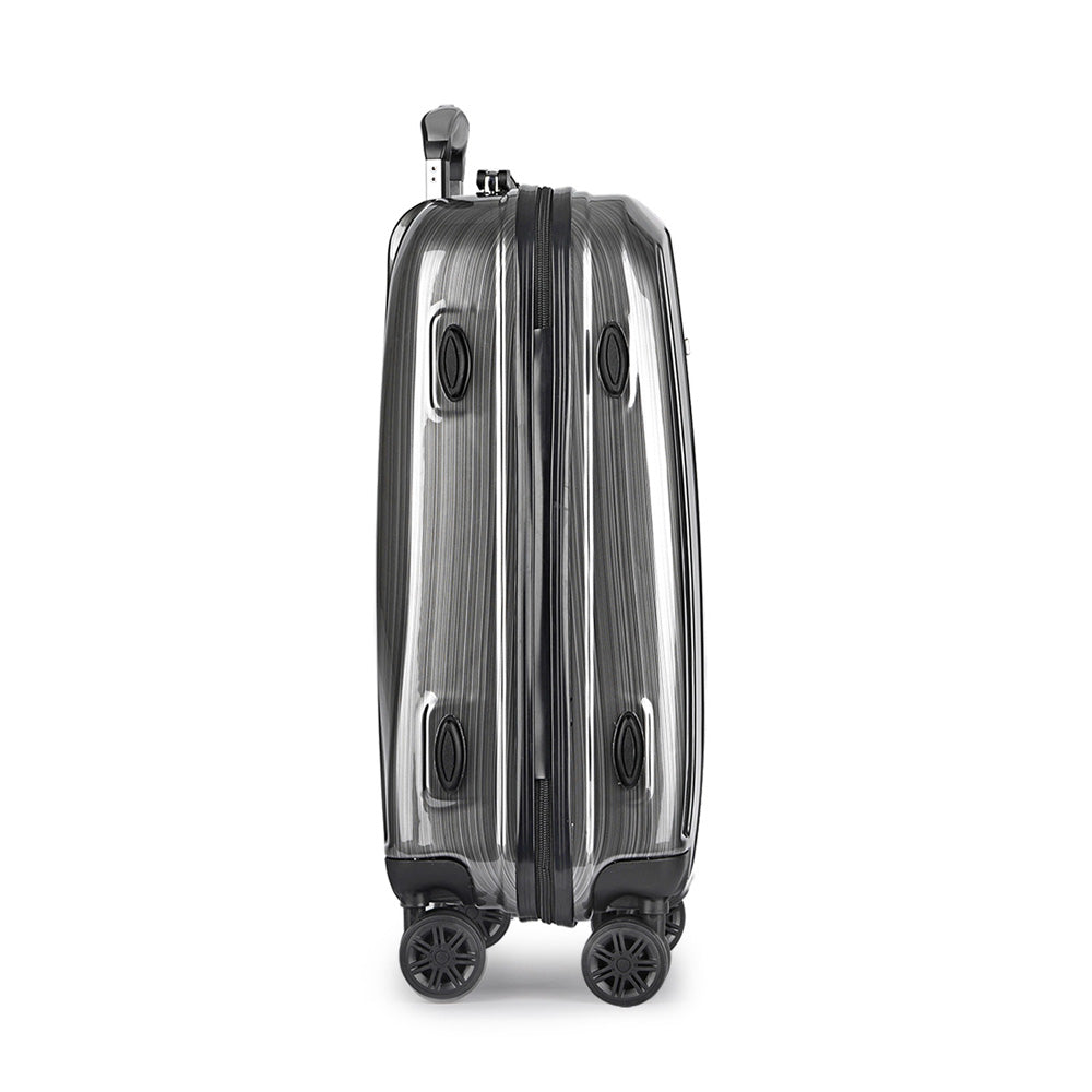 Wanderlite Lightweight Hard Suit Case Luggage Grey