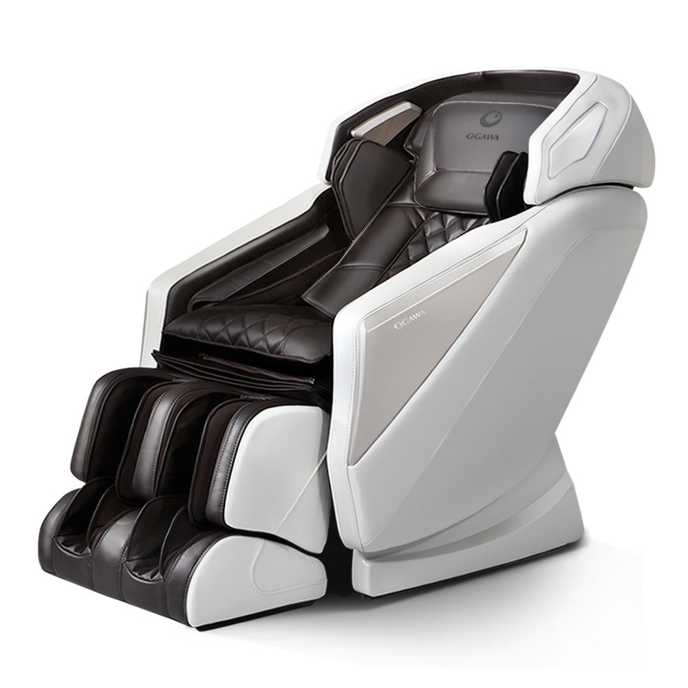 Ogawa Electric Massage Chair Smart revive Full Body Shiatsu Roller Large Cream