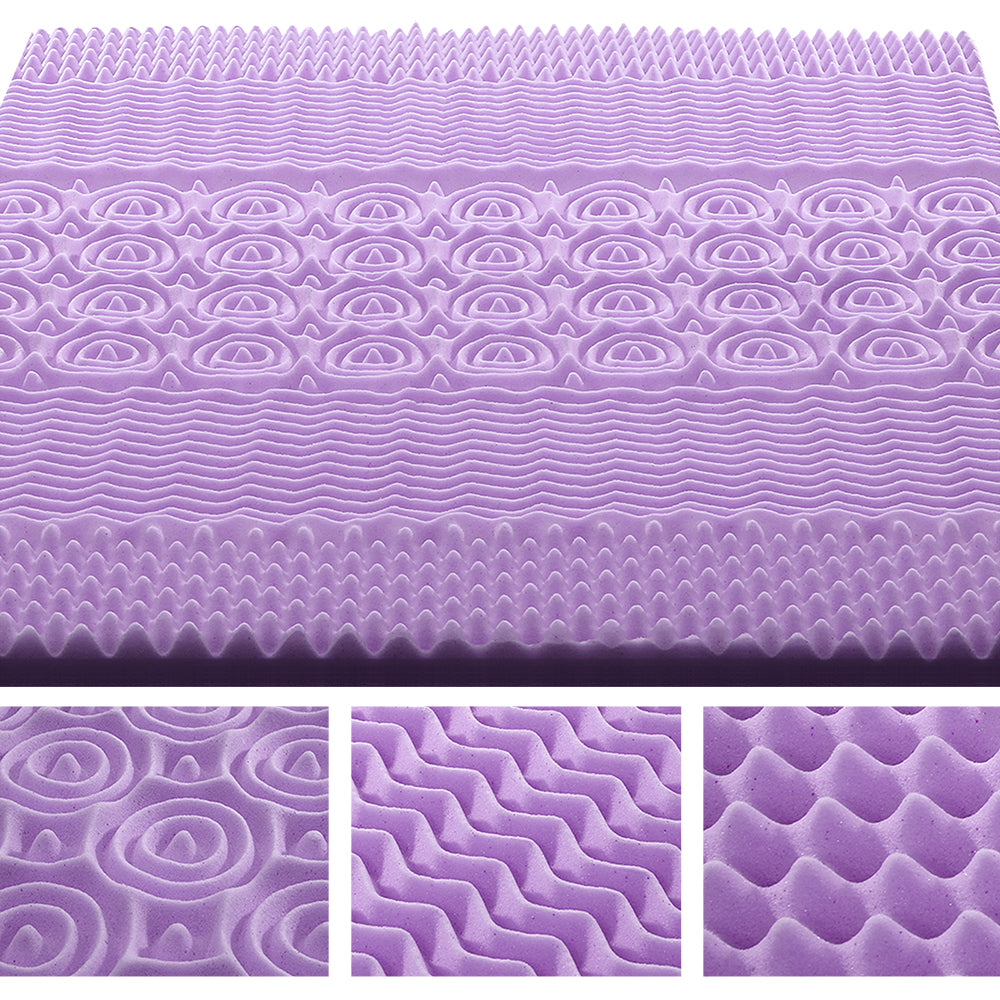 Giselle Bedding Queen Size 5cm Thick Bamboo Mattress Topper - Lavender