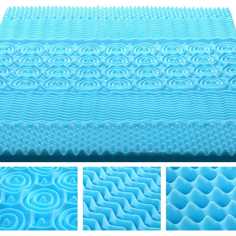 Giselle Bedding Double Size 8cm Thick Bamboo Mattress Topper - Blue