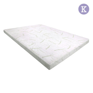 Giselle Bedding King Size 8cm Cool Gel Memory Foam Mattress Topper