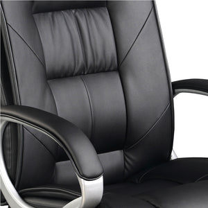 Executive PU Leather Office Desk Computer Chair - Black