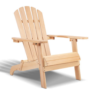 Gardeon Outdoor Wooden Lounge Chair - Natural Wood