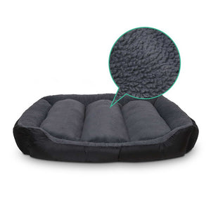 i.Pet Extra Extra Large Fleece Washable Pet Bed - Grey