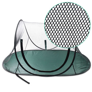 i.Pet Portable Soft Pet Play Pen - Black & Green