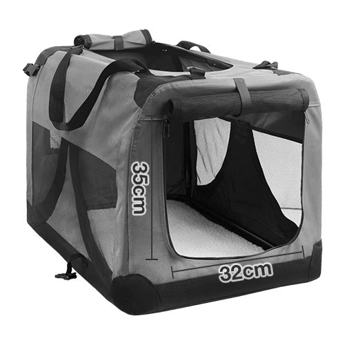 i.Pet Large Portable Soft Pet Carrier- Grey