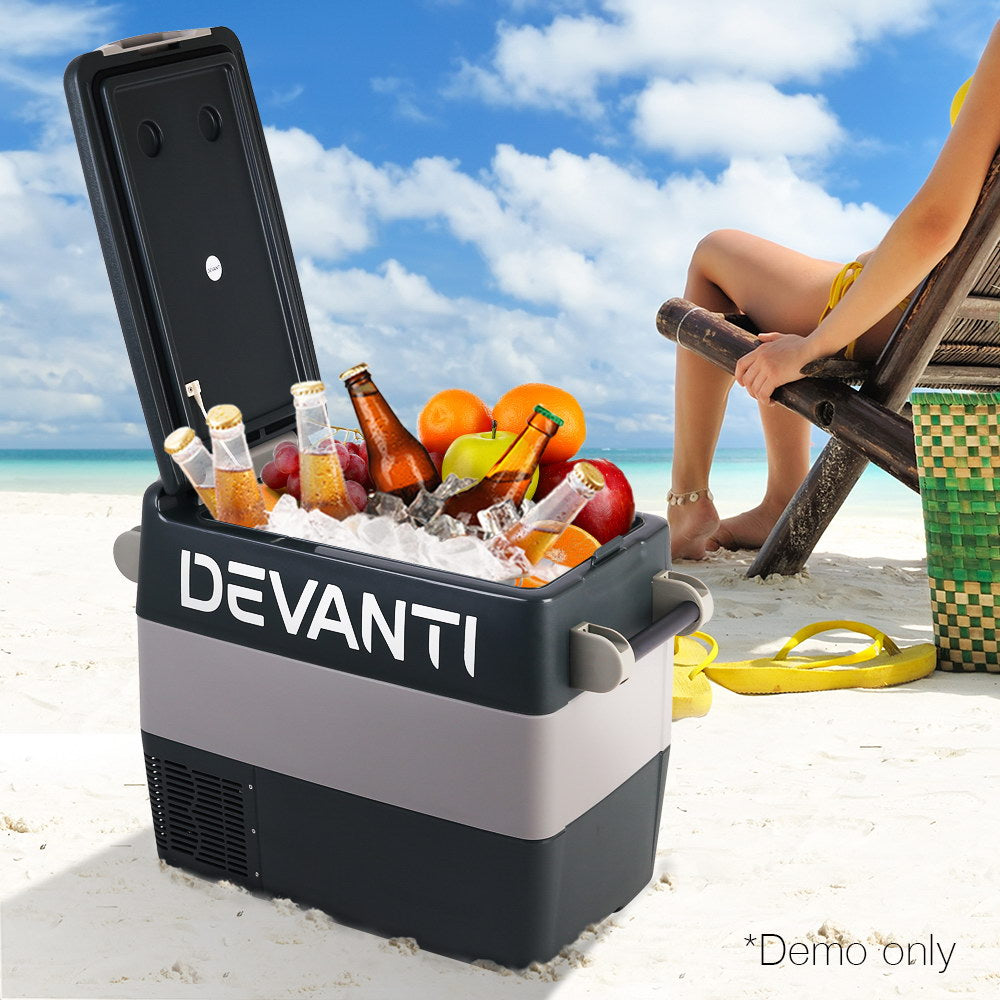 Devanti 55L Portable Fridge Freezer Cooler Caravan Camping