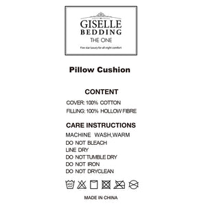 Giselle Bedding Set of 4 Medium & Soft Cotton Pillows