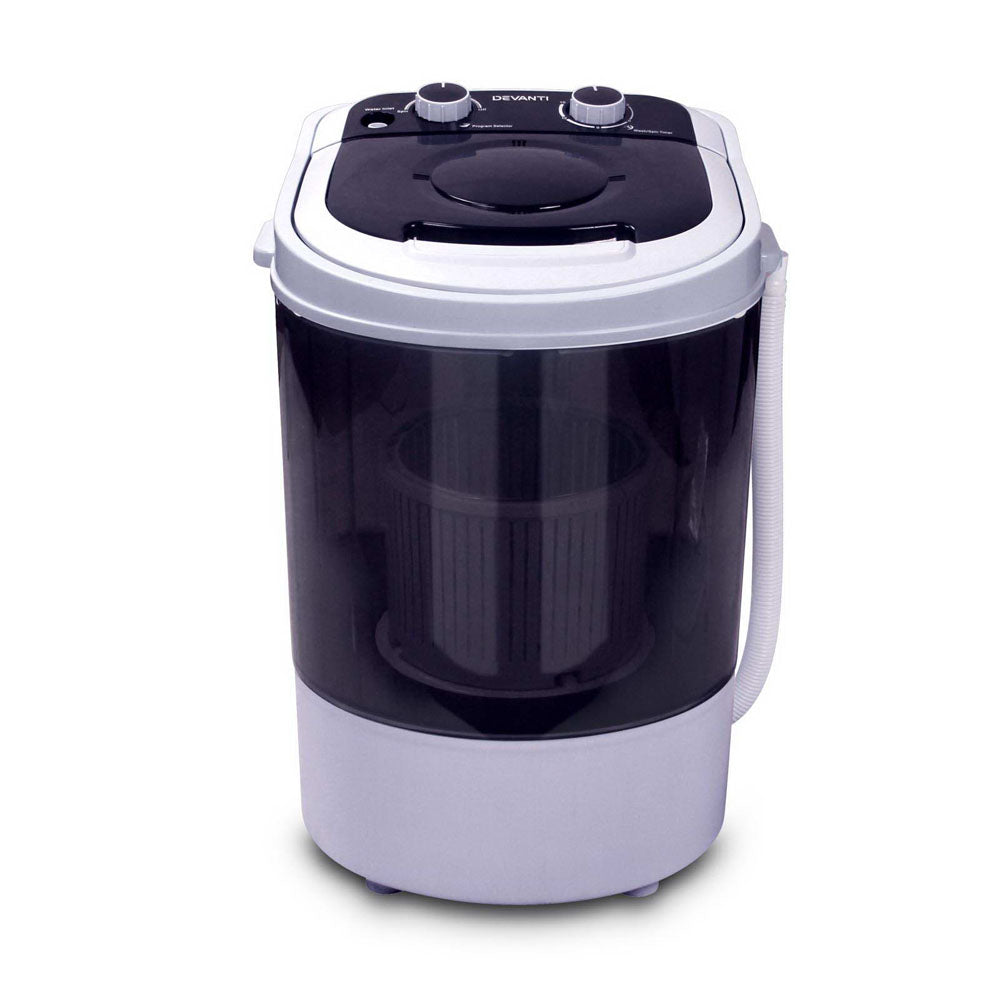 Devanti 4KG Mini Portable Washing Machine - Black
