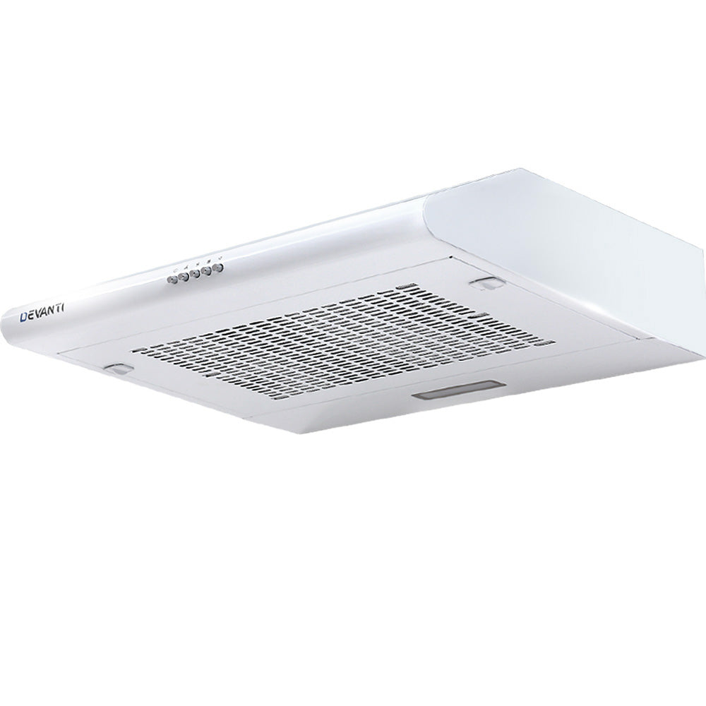 Devanti Fixed Range Hood Rangehood Kitchen Canopy 60cm 600mm White