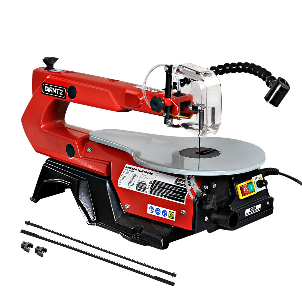 "Giantz 16"" 120W Scroll Saw Blades Variable Speed Saws Electric Lamps Scrollsaw"