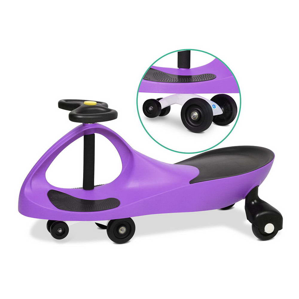 Keezi Kids Ride On Swing Car - Purple