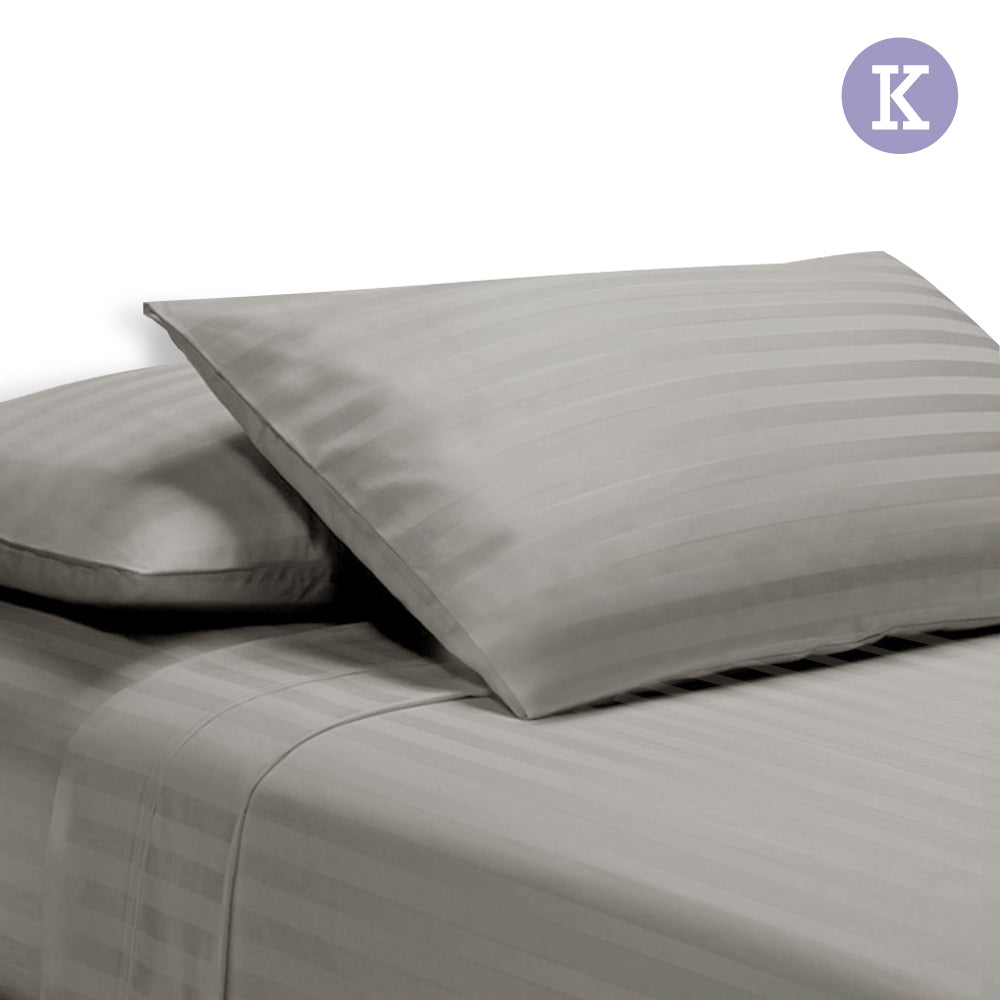 Giselle Bedding King Size 4 Piece Bedsheet Set - Grey