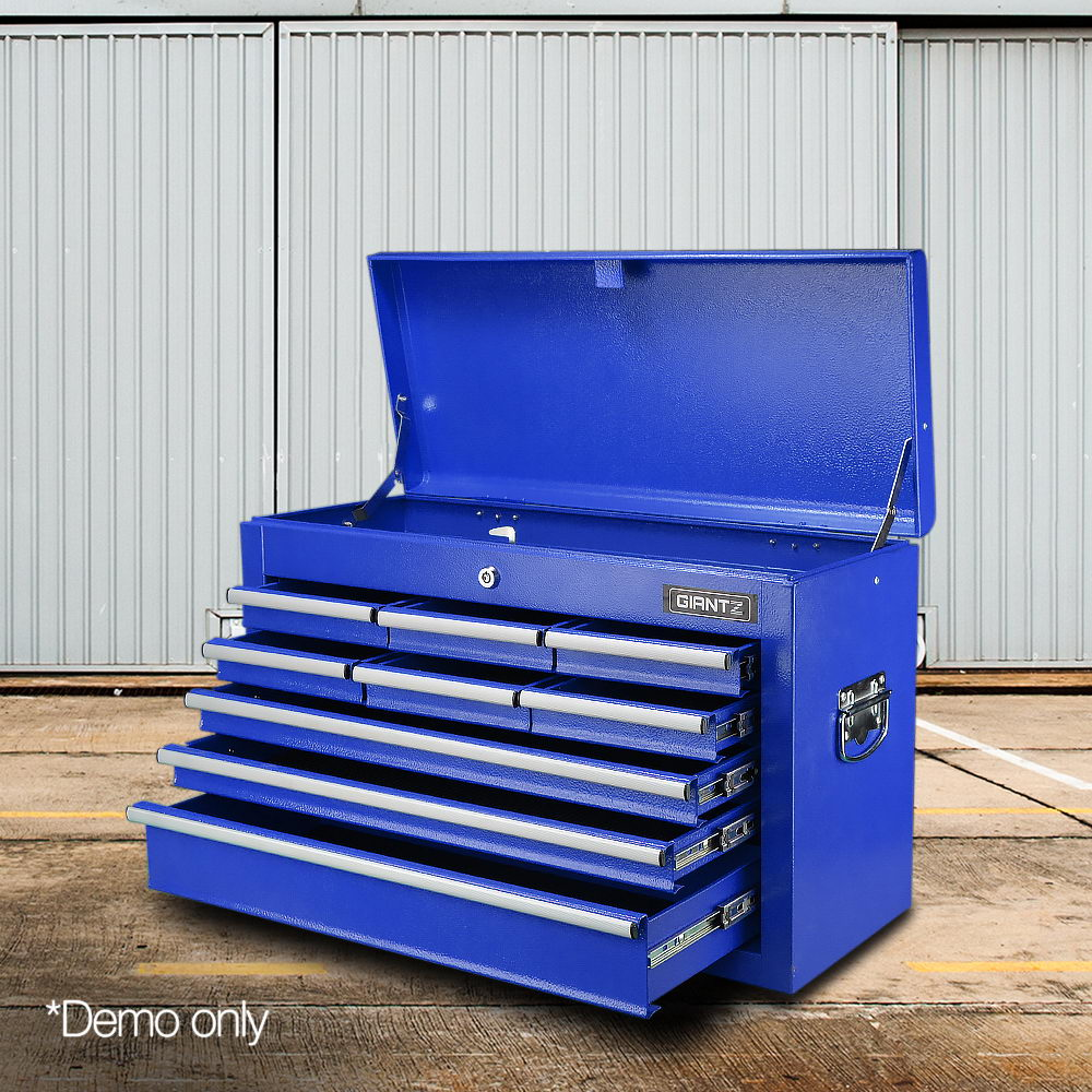 Giantz 9 Drawer Mechanic Tool Box Storage Chest - Blue