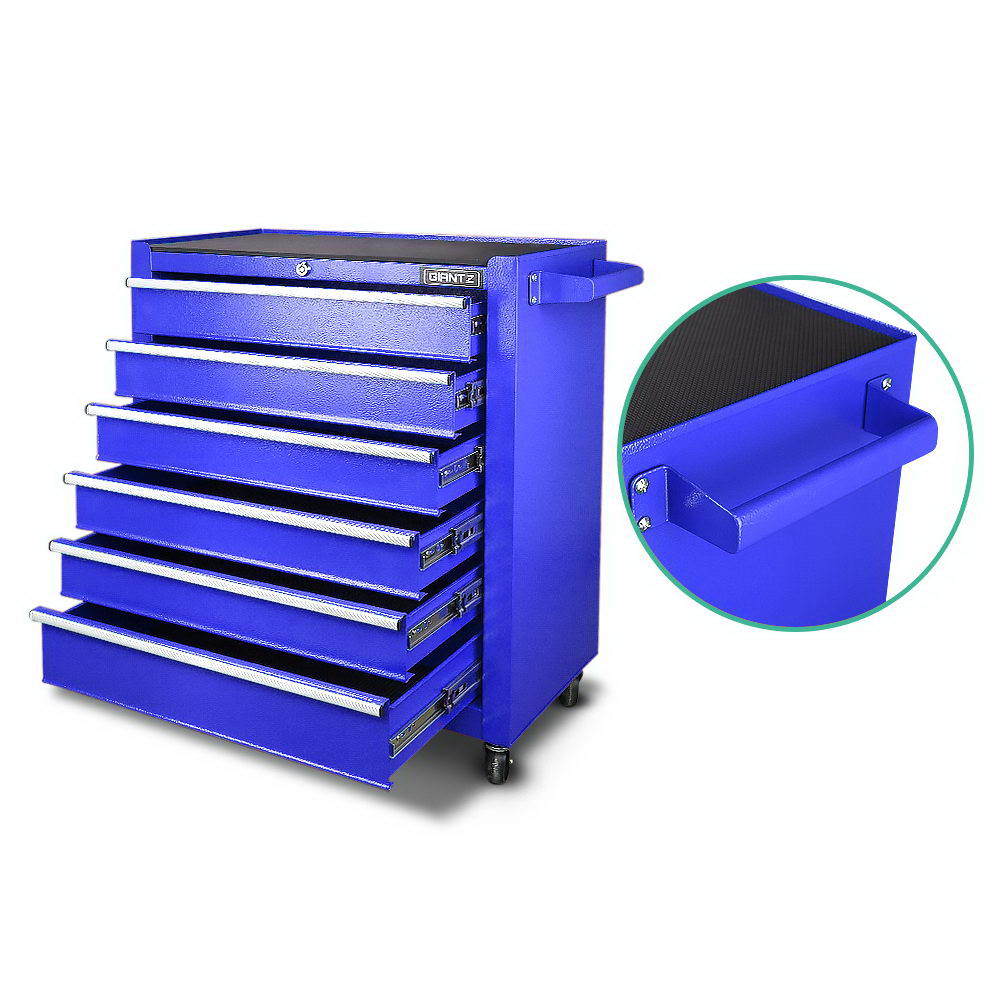 Giantz 6 Drawer Mechanic Tool Box Storage - Blue