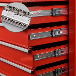 Giantz 6 Drawer Mechanic Tool Box Storage - Red