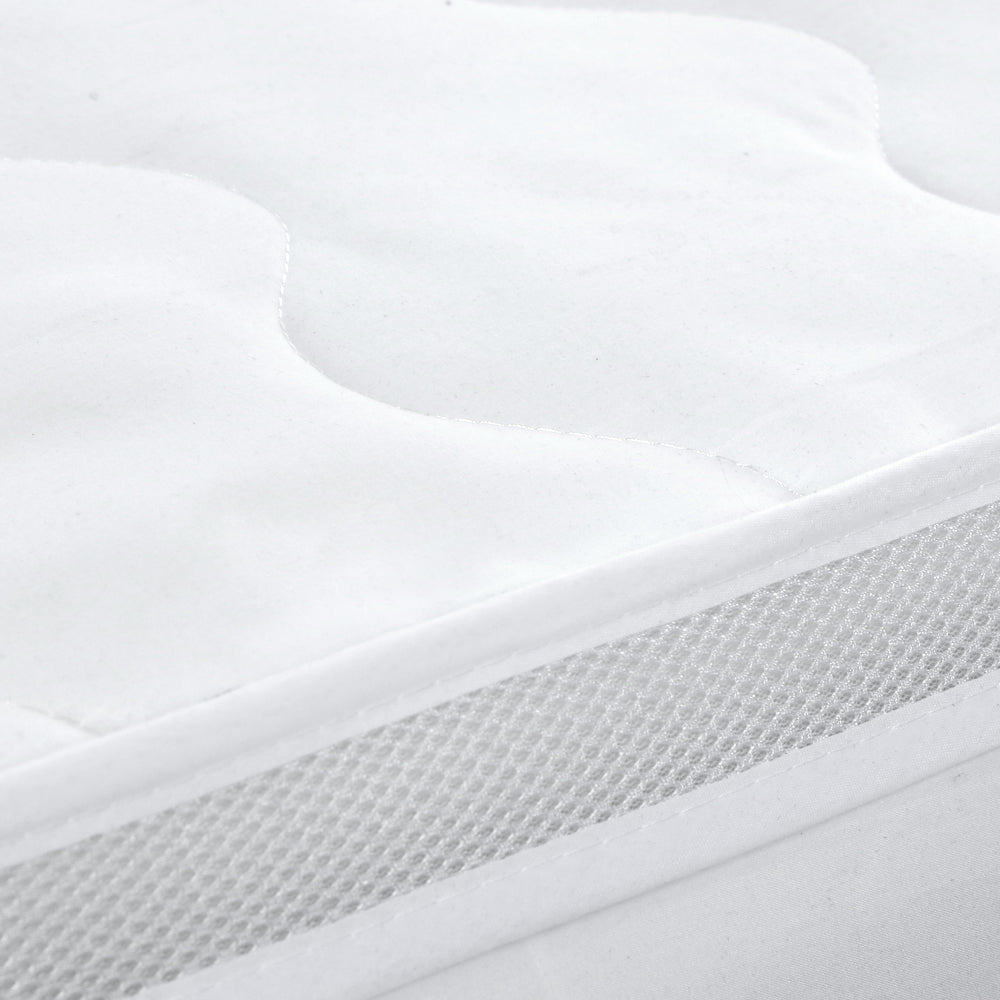 Giselle Bedding 1000GSM Mesh Pillowtop Mattress Topper Protector Cover King Single