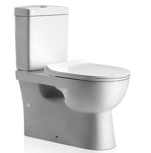 Cefito Back to Wall Toilet Suite Rimless Flush Soft Close P S Trap Ceramic WELS White