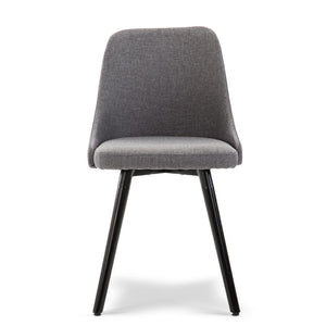 Artiss Set of 2 Fabric Dining Chair - Grey