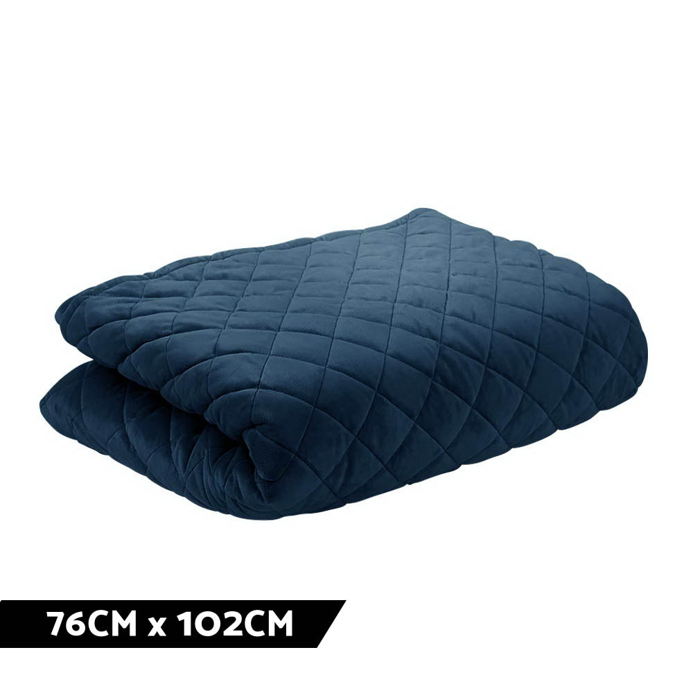 Giselle Bedding Microfibre Weighted Blanket Zipper Cover Kids Size 76cmx102cm Navy