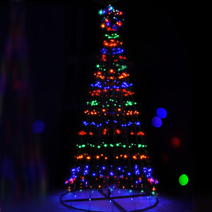 Jingle Jollys 2.1M LED Christmas Tree Lights Multi Colour
