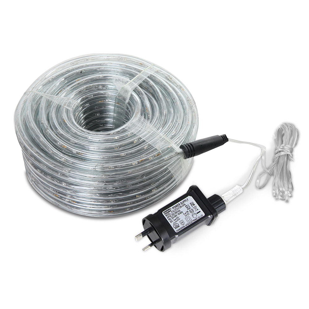 Jingle Jollys 50M Christmas Rope Lights 1200 LED Warm White