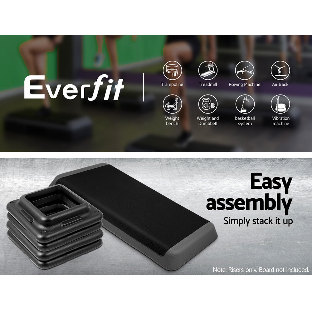 Everfit Set of 2 Areobic Step Bench Step Risers