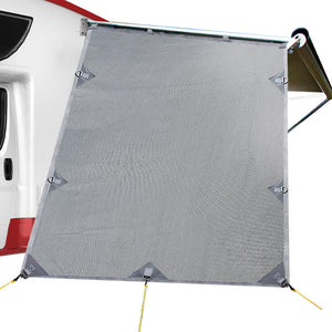 Weisshorn Caravan Roll Out Awning End Wall - Grey