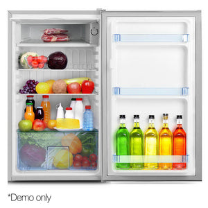 Devanti  95L Portable Bar Fridge - Silver
