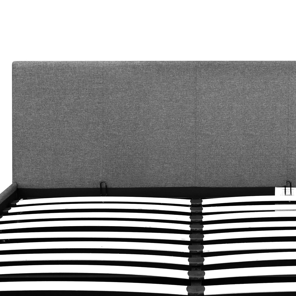 Artiss Queen Size Fabric and Wood Bed Frame Headborad - Grey