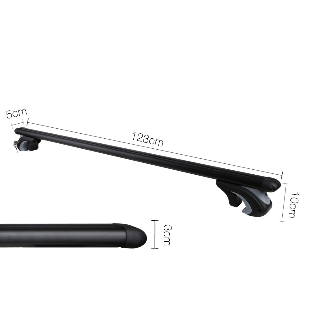Giantz 1200mm Universal Aluminium Lockable Roof Rack - Black