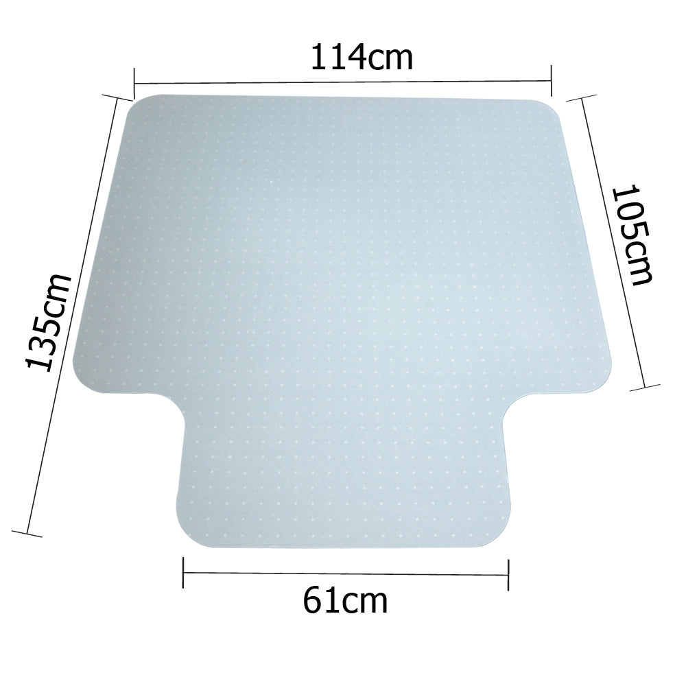 Computer Office Chair Mat Hard Floor Carpet Protector Vinyl Plastic 1350mm x 1140mm