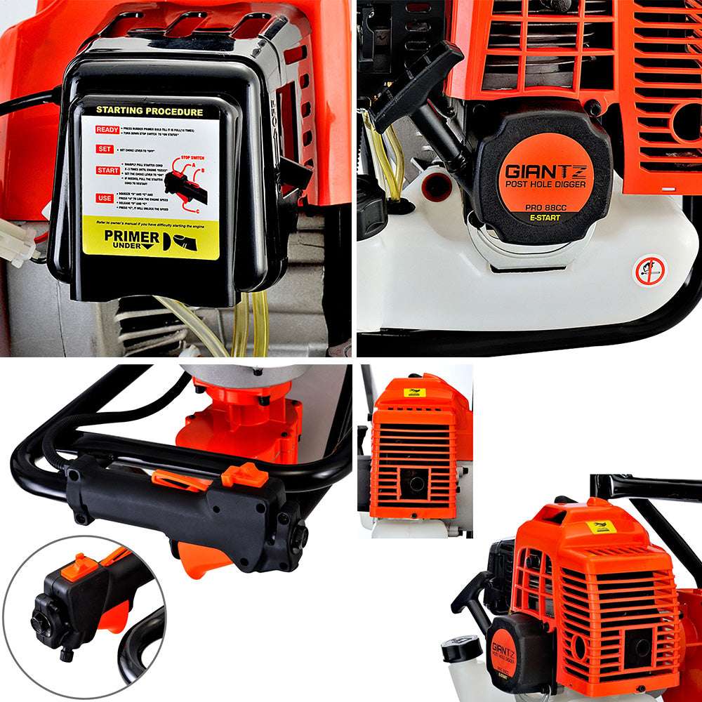 88CC Petrol Post Hole Digger Borer