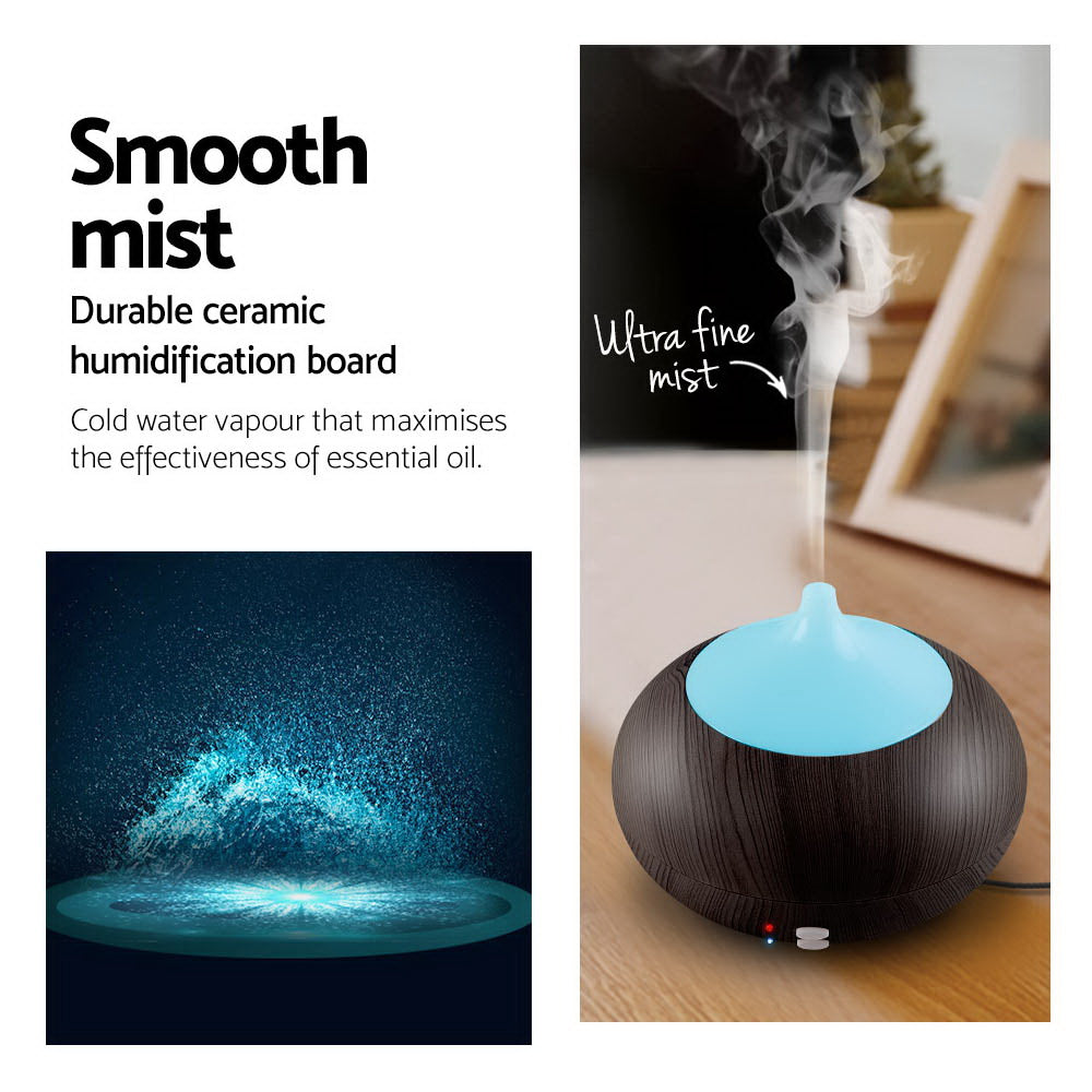 4 in 1 Aroma Diffuser 300ml - Dark Wood