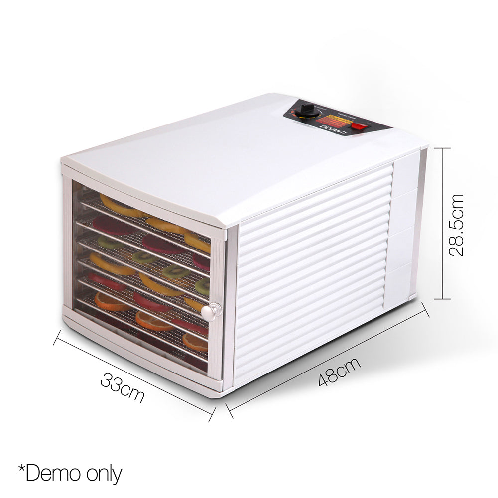DEVANTI Stainless Steel Commercial Food Dehydrator with 8 Trays