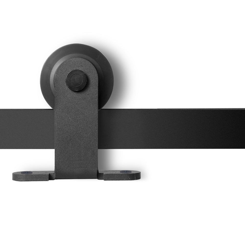 2M Sliding Barn Door Hardware - Black