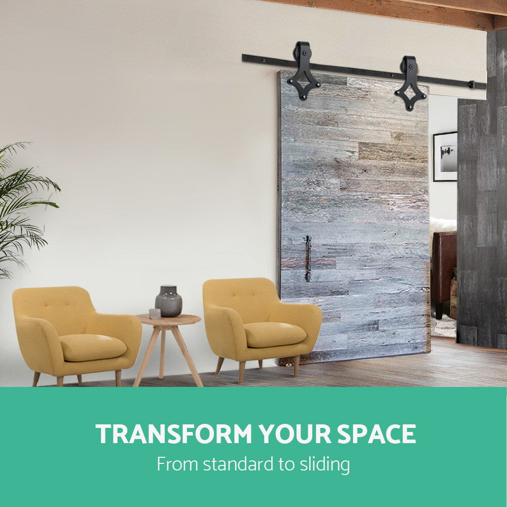 Timber Sliding Barn Door Hardware - Black