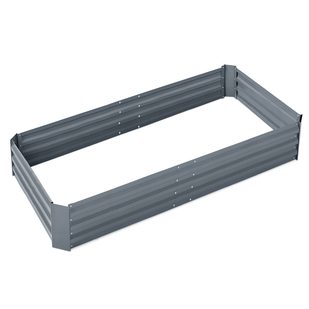 Green Fingers 150 x 90cm Galvanised Steel Garden Bed - Aluminium Grey