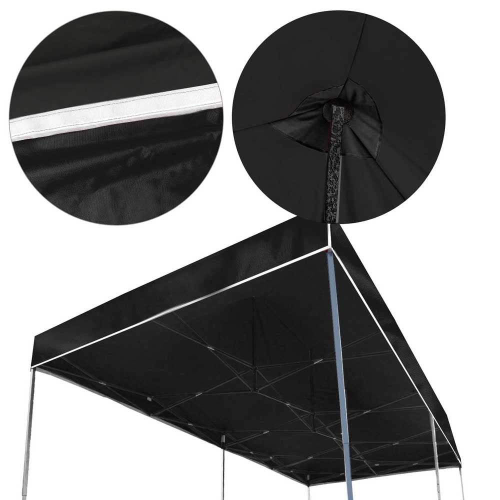Instahut Gazebo Pop Up Marquee 3x6m Outdoor Tent Folding Wedding Gazebos Black