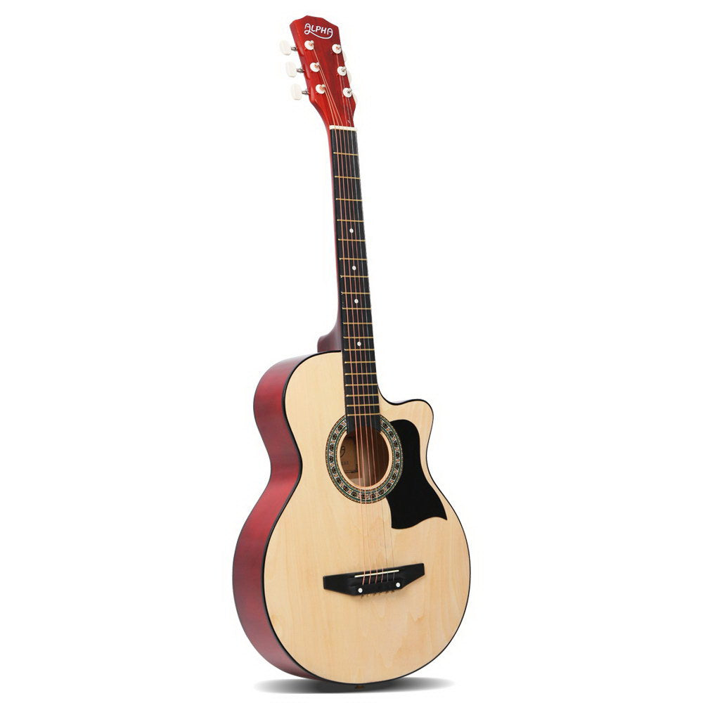 Alpha 38 Inch Wooden Acoustic Guitar - Natural