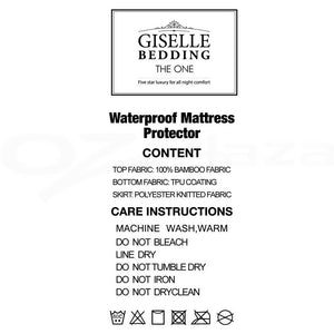 Giselle Bedding King Single Size Waterproof Bamboo Mattress Protector