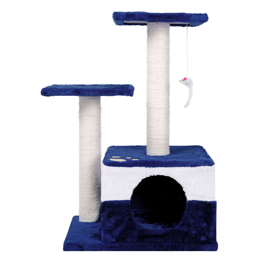 i.Pet 70cm Cat Scracthing Tree - Blue & white