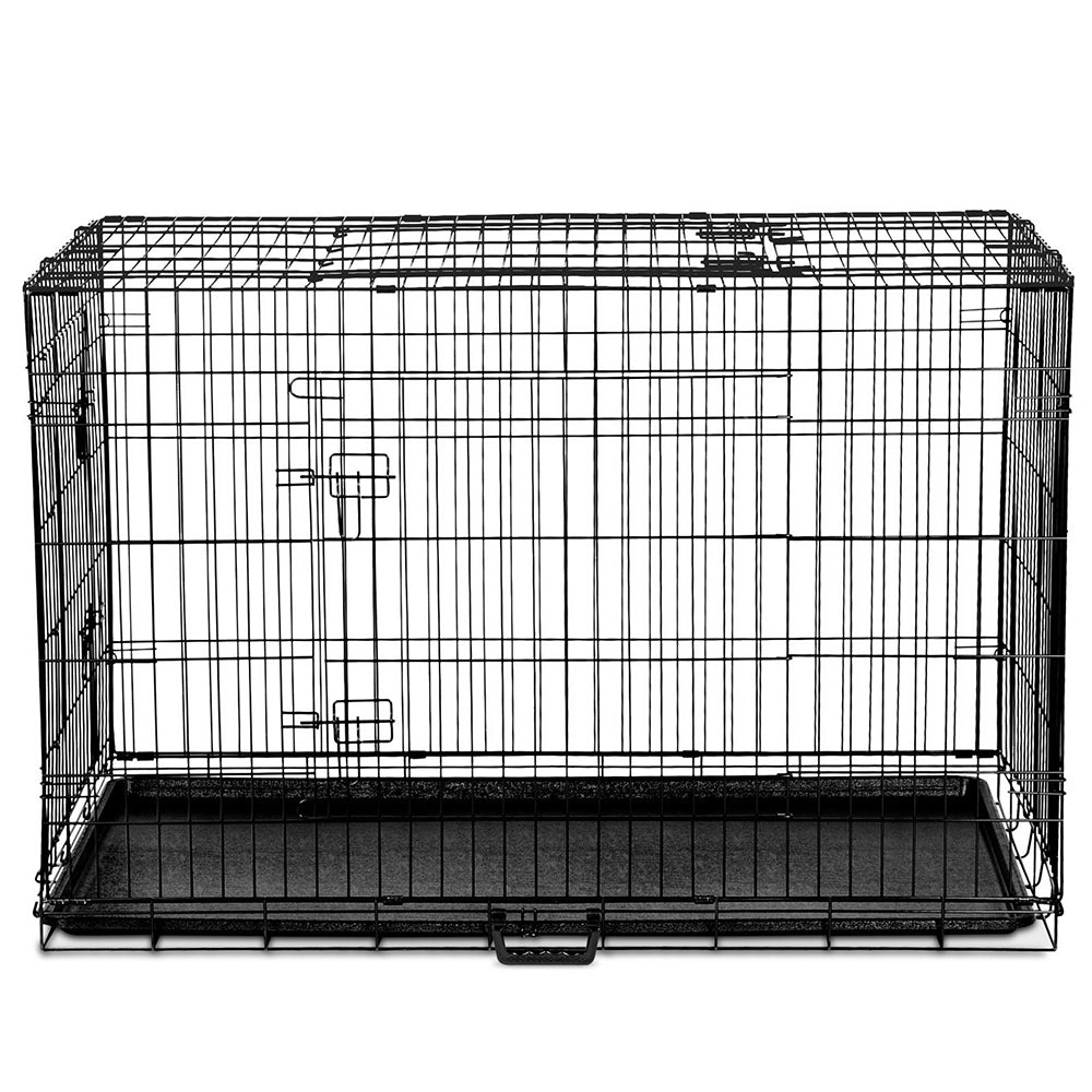 i.Pet 42inch Collapsible Pet Cage with Cover - Black & Blue