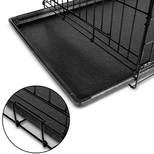 i.Pet 48inch Collapsible Pet Cage with Cover - Black & Blue