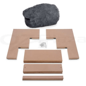 i.Pet 3 Step Plush Pet Steps - Grey