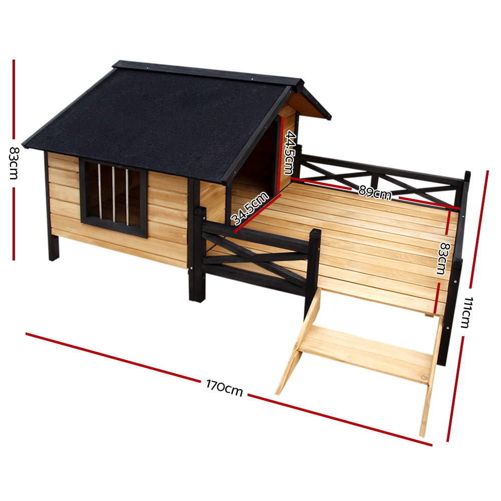 i.Pet Extra Large Waterproof Timber Pet Kennel